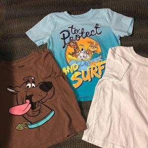 Other - Size 5T Scooby, paw patrol bundle of 3 tees